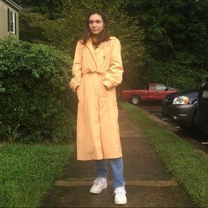 Vintage Light Orange Trench Coat